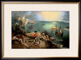Landscape with the Fall of Icarus, circa 1555 Framed Giclee Print by Pieter Bruegel the Elder