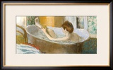 Woman in Her Bath, Sponging Her Leg, circa 1883 Framed Giclee Print by Edgar Degas