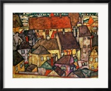 Yellow City, 1914 Gerahmter Giclée-Druck von Egon Schiele