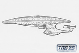 Star Trek: The Next Generation, Ship Line Art Photo