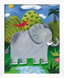 Nellie the Elephant Framed Giclee Print by Sophie Harding