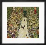 Gardenpath with Hens, 1916 Gerahmter Giclée-Druck von Gustav Klimt