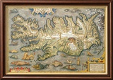 Map of Iceland Art par Abraham Ortelius