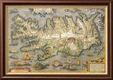 Karte von Island Kunst von Abraham Ortelius