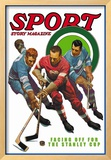 Facing Off for the Stanley Cup, c.1936 Framed Giclee Print