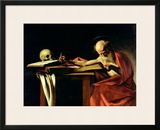 St. Jerome Writing, circa 1604 Framed Giclee Print by Caravaggio 