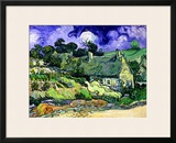 Thatched Cottages at Cordeville, Auvers-Sur-Oise, c.1890 Framed Giclee Print by Vincent van Gogh