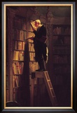 The Bookworm Framed Giclee Print by Carl Spitzweg
