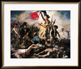 Die Freiheit führt das Volk, 28. Juli 1830 Gerahmter Giclée-Druck von Eugene Delacroix