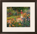 Garden at Giverny, 1895 Framed Giclee Print by Claude Monet