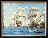 The Battle of Trafalgar Framed Giclee Print by Montague Dawson