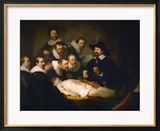 The Anatomy Lesson of Dr. Nicolaes Tulp Estampe encadrée par Rembrandt van Rijn