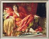 Leila, 1892 Framed Giclee Print by Frank Bernard Dicksee