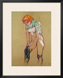 Woman Pulling up Her Stocking, 1894 Framed Giclee Print by Henri de Toulouse-Lautrec