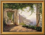 Kapuzinerkloster, Amalfiküste Gerahmter Giclée-Druck von Carl Frederic Aagaard