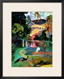 Matamoe Or, Landscape with Peacocks, 1892 Framed Giclee Print by Paul Gauguin
