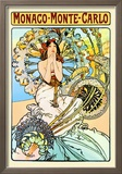 Monaco, Monte Carlo Poster by Alphonse Mucha