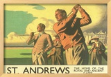 St. Andrews Golf Course Framed Giclee Print