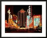 Las Vegas at Night, Nevada Framed Photographic Print by Eric Figge