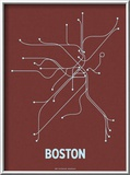 Boston Art by  Line Posters