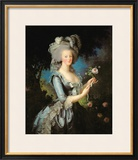 Marie Antoinette (1755-93) with a Rose, 1783 Framed Giclee Print by Elisabeth Louise Vigee-LeBrun