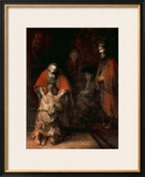 Return of the Prodigal Son, circa 1668-69 Impressão giclée emoldurada por Rembrandt van Rijn