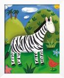 Zara the Zebra Framed Giclee Print by Sophie Harding