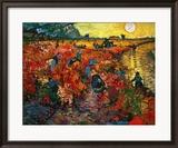 Der Rote Weingarten in Arles Gerahmter Giclée-Druck von Vincent van Gogh