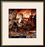 Hell Framed Giclee Print by Hieronymus Bosch