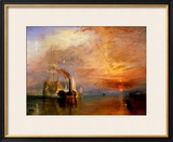 "The ""Fighting Temeraire"" Tugged to Her Last Berth to be Broken Up, Before 1839 Framed Giclee Print by J. M. W. Turner"