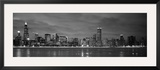 Chicago - B&W Reflection Framed Photographic Print by Jerry Driendl