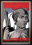You Are Now a Free Woman, Help Build Socialism! Prints by Adolf Strakhov