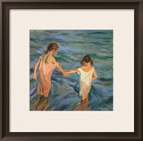 Children in the Sea, 1909 Framed Giclee Print by Joaqu&#237;n Sorolla y Bastida