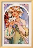 Flower Framed Giclee Print by Alphonse Mucha
