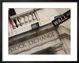 New York Stock Exchange, Wall Street, Manhattan, New York City, New York, USA Lmina fotogrfica enmarcada por Amanda Hall