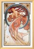 Dance Framed Giclee Print by Alphonse Mucha