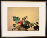 Basket with Fruit, circa 1596 Framed Giclee Print by Caravaggio 