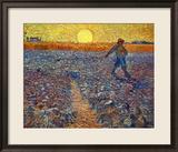 Sämann bei untergehender Sonne Gerahmter Giclée-Druck von Vincent van Gogh
