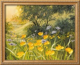 Golden Sunset Framed Giclee Print by Mary Dipnall