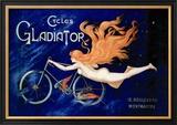 Pyöräilevä gladiaattori, ranskaksi Julisteet