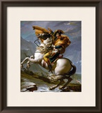 Bonaparte Crossing the Great Saint Bernard Pass, 1801 Framed Giclee Print by Jacques-Louis David