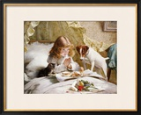 Suspense Framed Giclee Print by Charles Burton Barber
