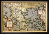 Karte von Griechenland Kunstdrucke von Abraham Ortelius