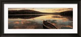 Water and Boat, Maine, New Hampshire Border, USA Ingelijste fotodruk van Panoramic Images