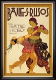 Bailes Rusuos Prints by Leon Bakst