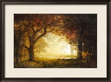Forest Sunrise Estampe encadrée par Albert Bierstadt