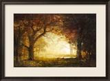 Forest Sunrise Gerahmter Giclée-Druck von Albert Bierstadt