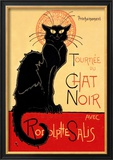 Tournee du Chat Noir Avec Rodolptte Salis Print by Th&#233;ophile Alexandre Steinlen