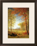 Autumn in America, Oneida County, New York Framed Giclee Print by Albert Bierstadt
