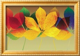 Leaf Dance II Framed Giclee Print by Robert Mertens